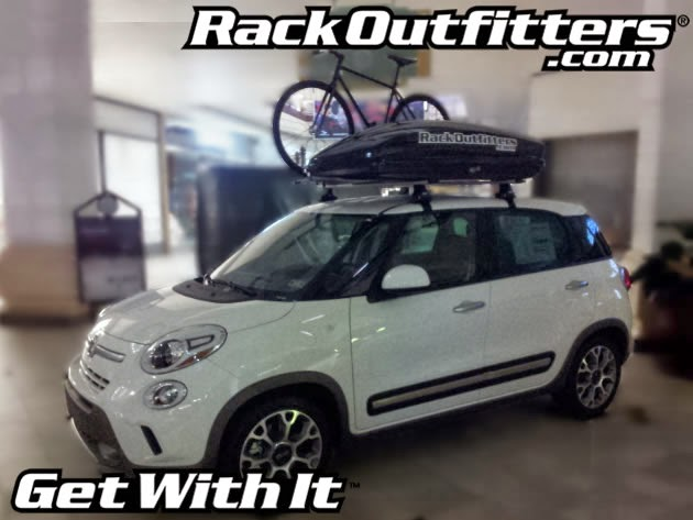 NEW FIAT 500L with Thule roof rack by Fiat of Austin ...