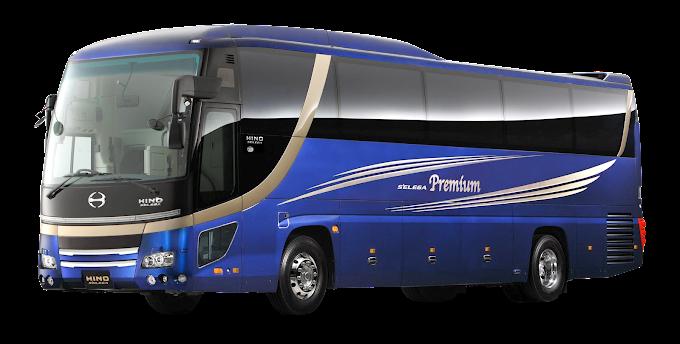 blue and black Premium bus, Bus India Car Hino Motors Coach, Bus, compact Car, school Bus png by: pngkh.com