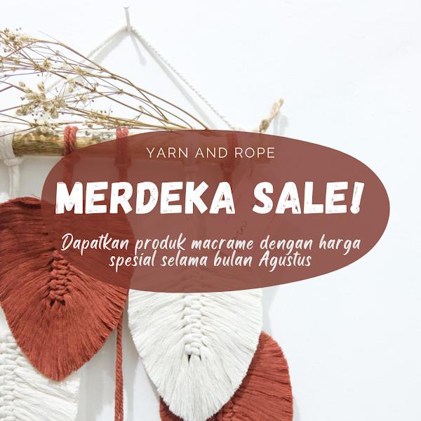 MERDEKA SALE ! Macrame by Yarn And Rope