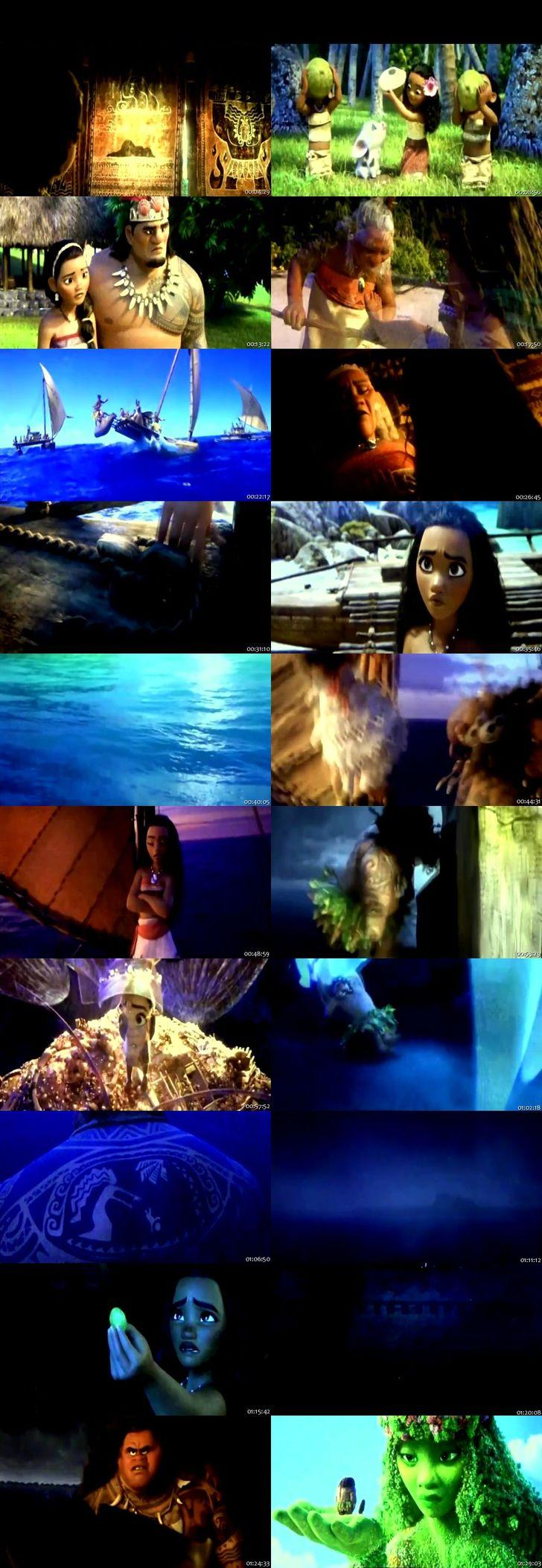 Screen Shot Of Moana 2016 Full Movie Download Free Watch Online 300MB