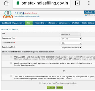 How to Return  file Income Tax India