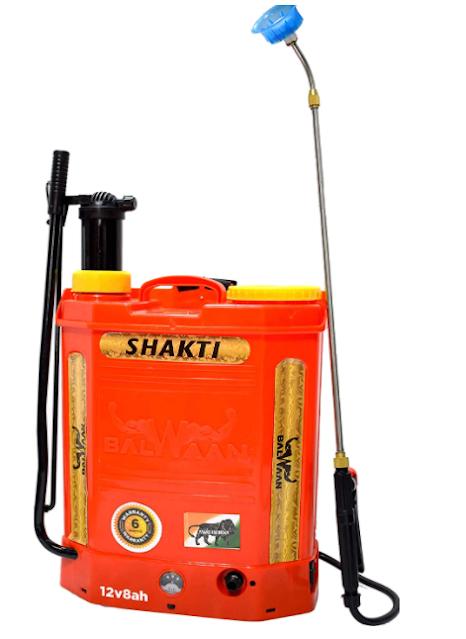 Balwaan Battery and Manual 12Vx8A 2 in 1 Knapsack Sprayer/Manual and Battery Sprayer Pump