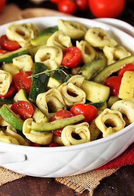 Summer Vegetable Tortellini Salad Image