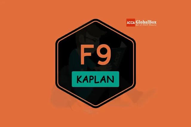 F9 - KAPLAN Study Texts, Accaglobalbox, acca globalbox, acca global box, accajukebox, acca jukebox, acca juke box,