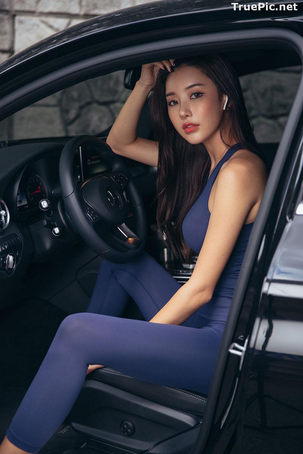 Image Korean Fashion Model - Park Da Hyun - Navy Sportswear - TruePic.net - Picture-5