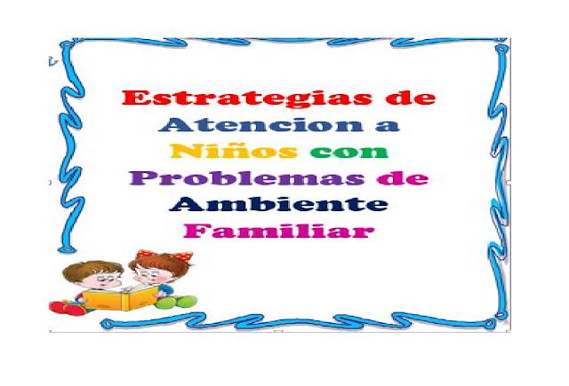Niños,primaria,problemas,estrategias