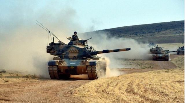 المدفعية التركية تدمر 100 هدف لداعش شمالي سوريا