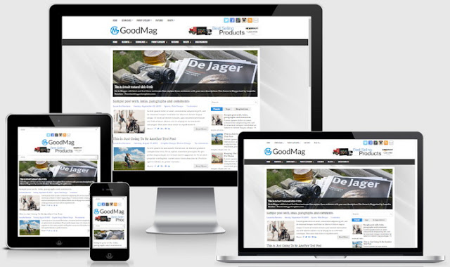 GoodMag Blogger Template