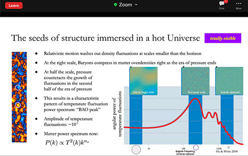 History of the universe leaves imprint in CMB (Source: Daniel Gruen, SLAC SSI 2020 Presentation)