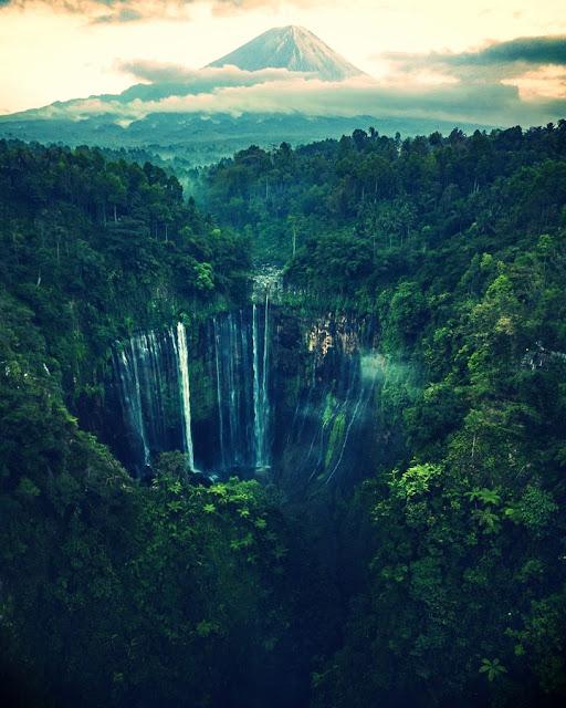 Tumpak Sewu Waterfall Tourist Attraction