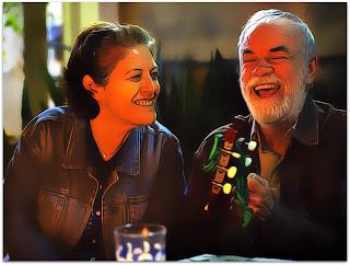 Pela Janela - Rosália (Magali Biff) e José (Cacá Amaral) na Festa do Hotel