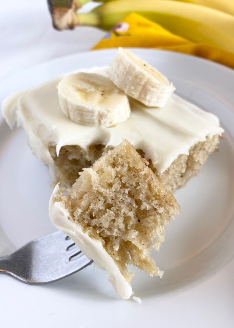 The BEST Banana Bars with Cream Cheese Frosting #sweetsavoryeats #bananabars