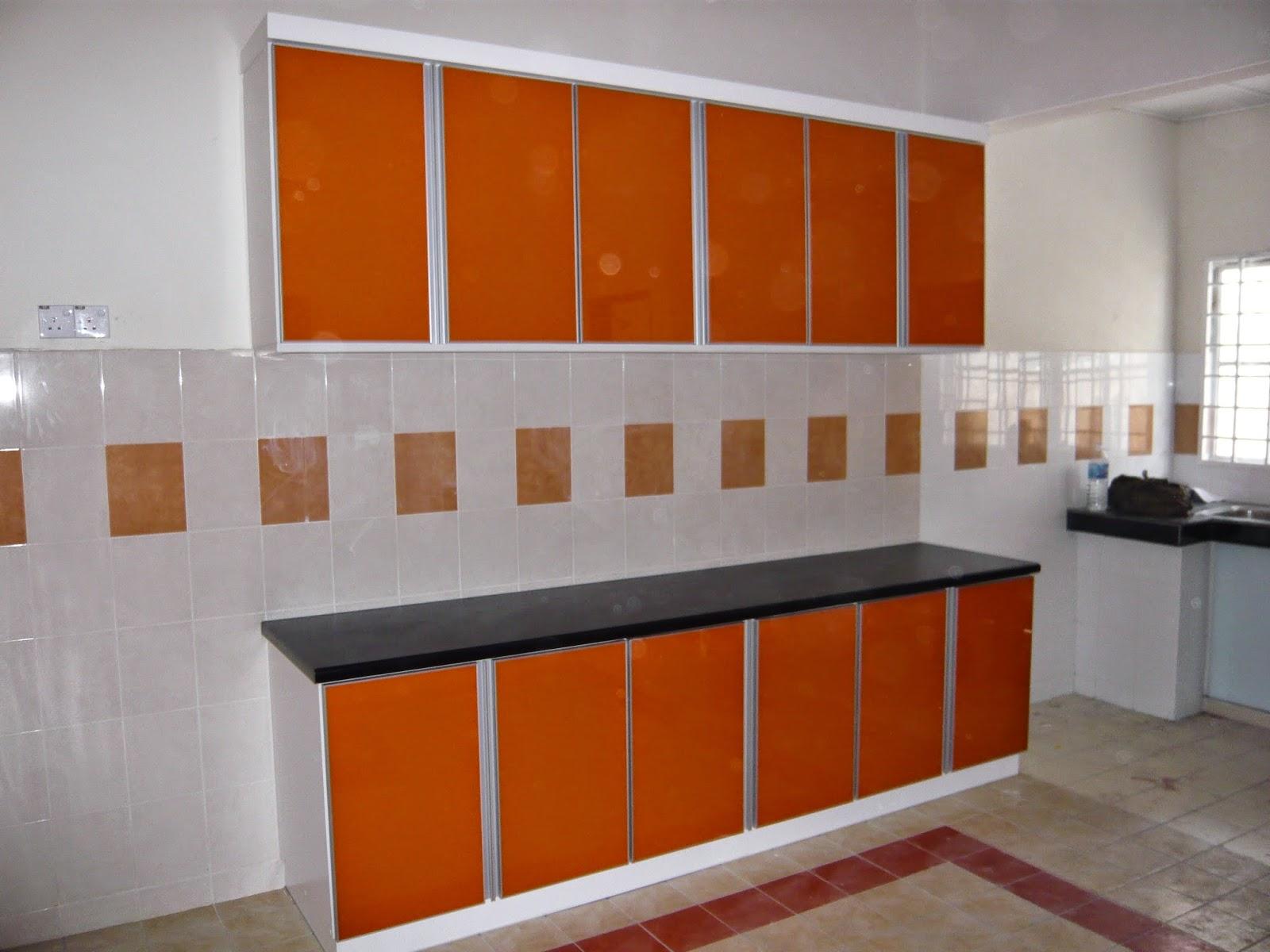 Kabinet Dapur Jenis 3g Warna Oren