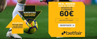 betfair supercuota Real Madrid gana a Arsenal 24 julio 2019