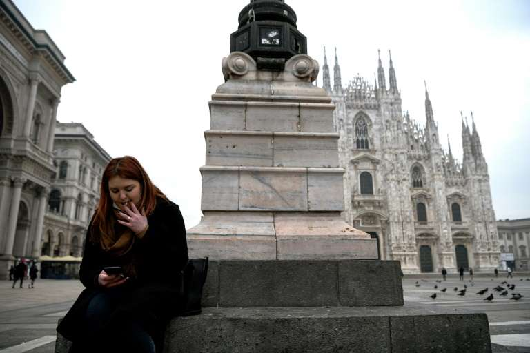 Smoking in Milan is forbidden even in the open air ... almost