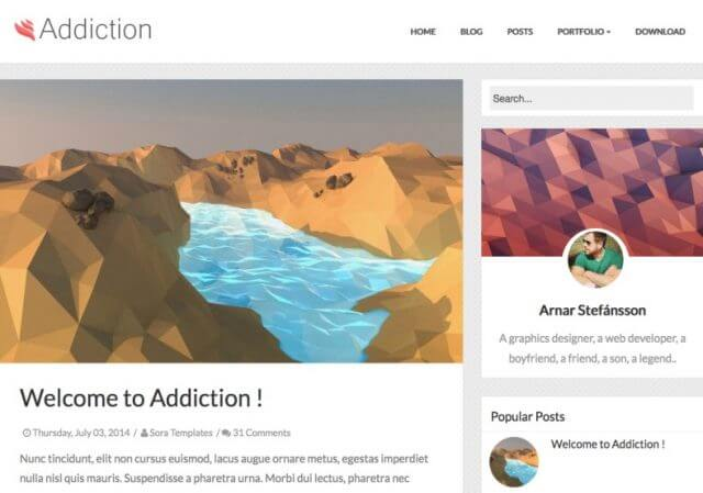 Addiction Responsive Blogger Template Full Version Free Download