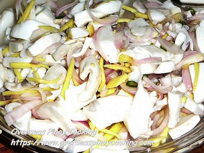 Kinilaw na Pusit (Cuttlefish) Recipe