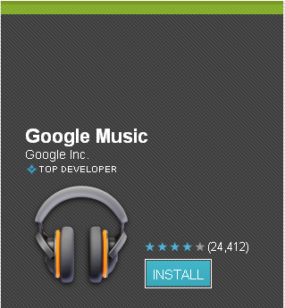 Google Music Android Application