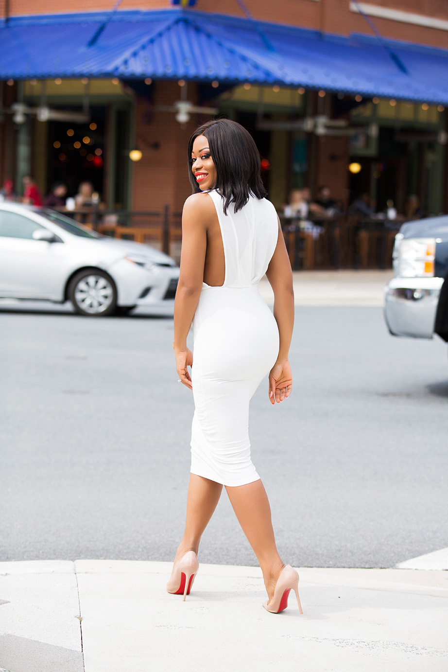 asos midi white dress, www.jadore-fashion.com