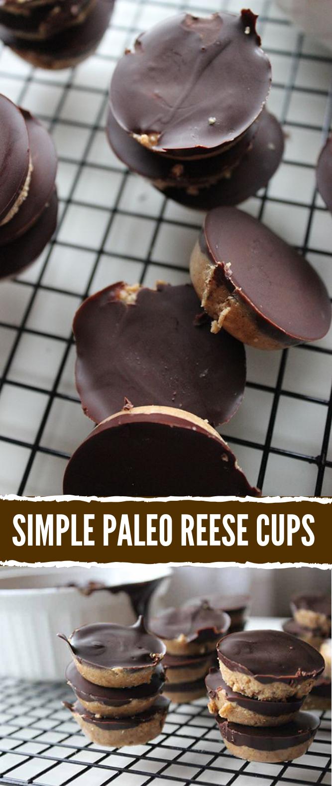 Simple Paleo Peanut Butter Cups Recipe #HealthyRecipe #glutenfree