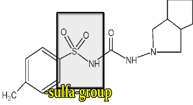 gliclazide-structure-with-sulfa-group