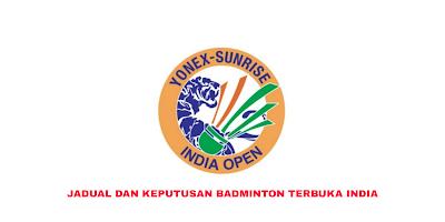 Jadual Badminton Terbuka India 2020 (Keputusan)