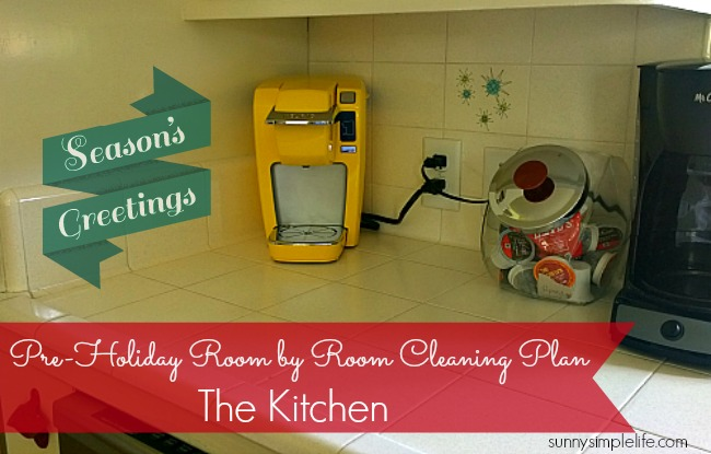organized Christmas, Christmas kitchen, cleaning house