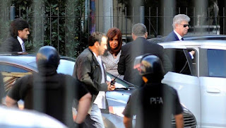 Cristina Fernández de Kirchner está en Comodoro Py por la causa Los Sauces. (Pedro Lázaro Fernández)  1 de 7