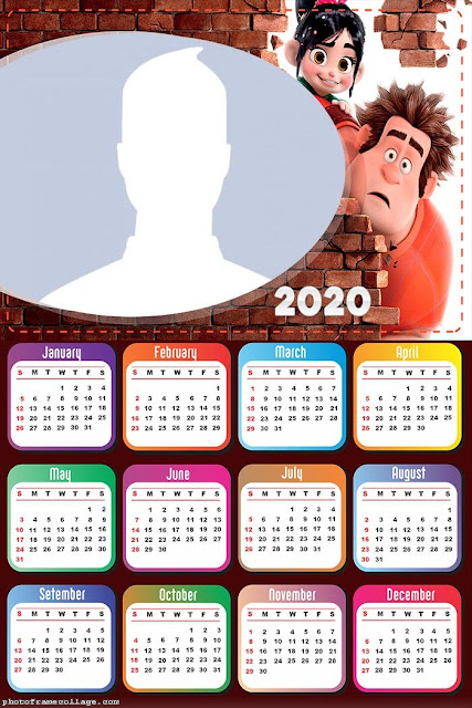 Wreck it Ralph: Free Printable 2020 Calendar