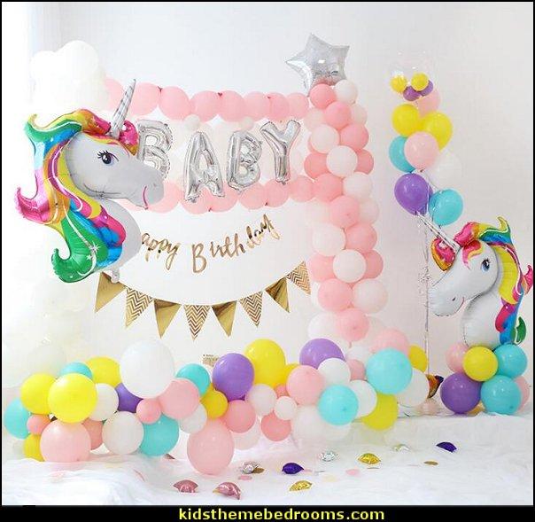Rainbow Unicorn Shape Mylar Balloons  Alphabet letter balloons