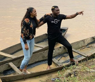 Photos Of Timi Dakolo And His Wife, Busola, Enjoying A Boat Ride In The Creeks Of Bayelsa