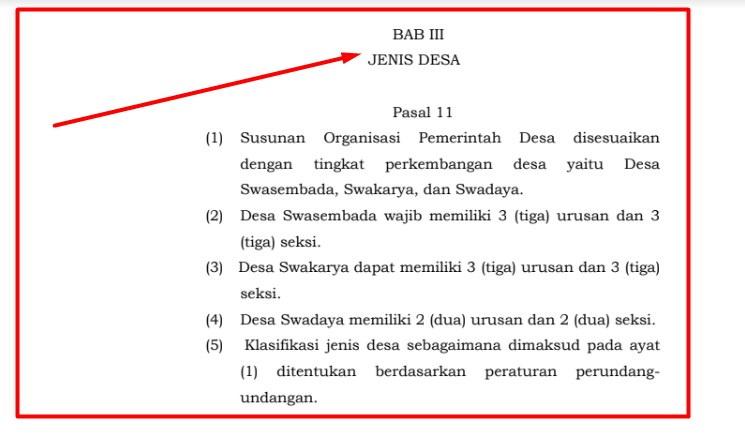 Peraturan Menteri Dalam Negeri Republik Indonesia Nomor  Jenis Desa Berdasarkan Permendagri 84 Tahun 2015