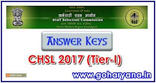 CHSL Tier 1 answer keys