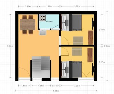 25 Gaj Makan Ka Naksha (25 Gaj House Map Design)   25 गज मकान का नक्शा - 1
