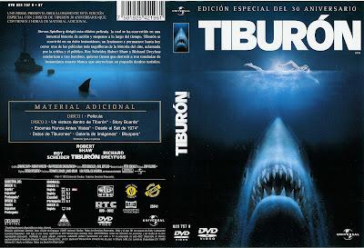 Carátula dvd: Tiburón (1975) Jaws - Película completa