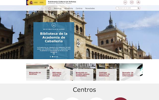 Defensa presenta una nueva web que facilita el acceso a sus archivos y patrimonio cultural