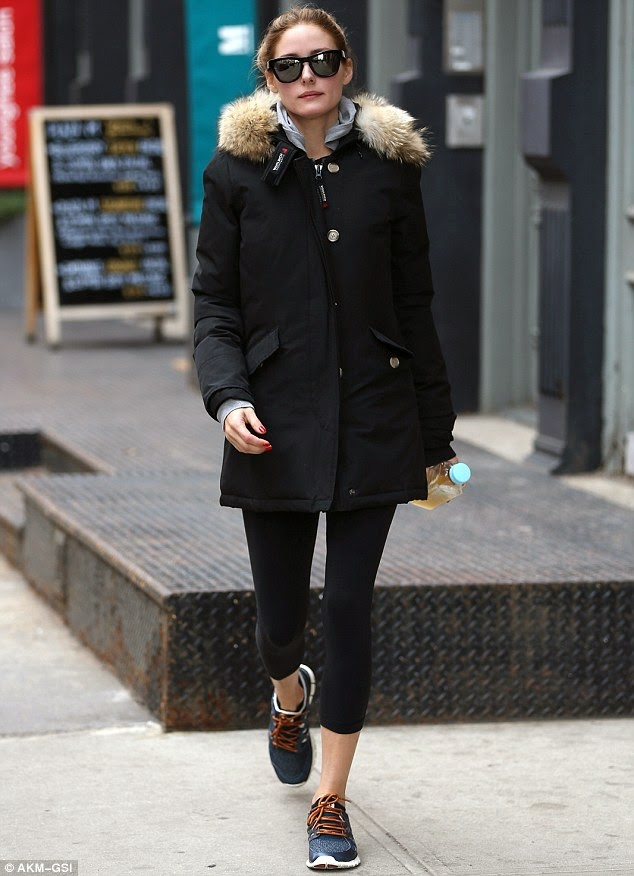 Olivia Palermo in Tribeca,New York City.