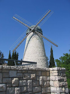 The Montefiore Windmill also known as the Jaffa Gate Mill