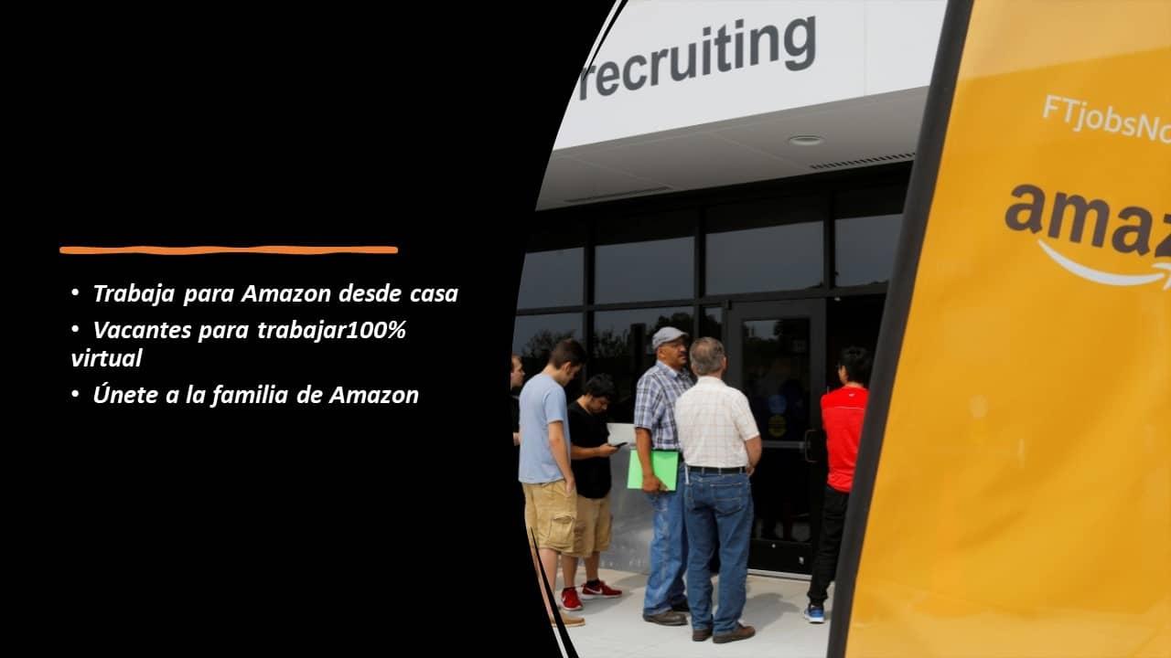 Trabaja para Amazon desde casa