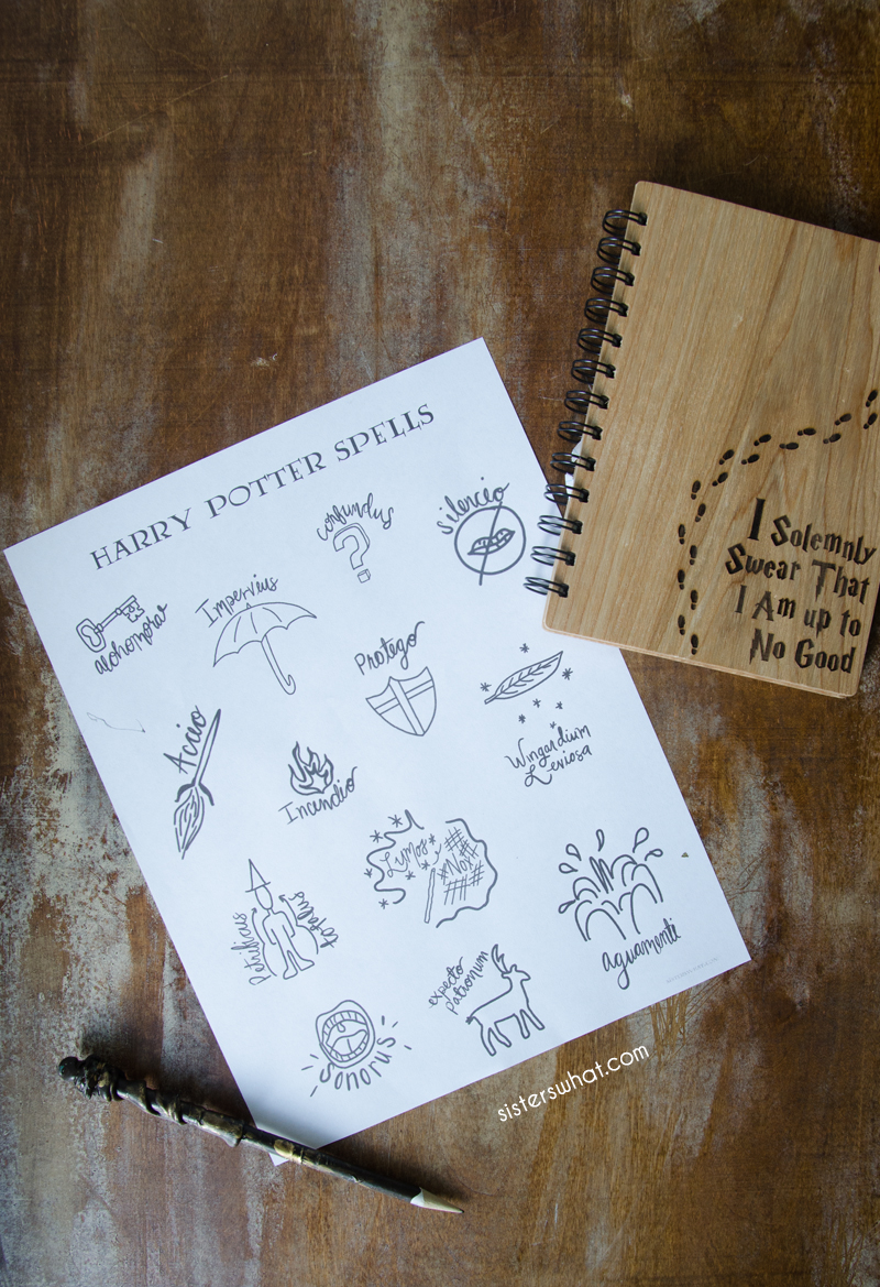 harry potter coloring page spells