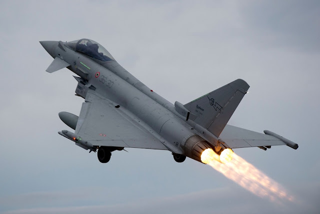 Italian Eurofighter intercept belgian aicraft