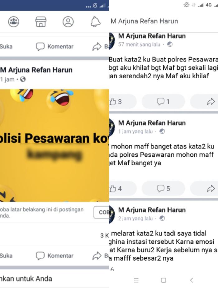 Pengguna FB Kembali Hina Jajaran Kepolisian Polres Pesawaran