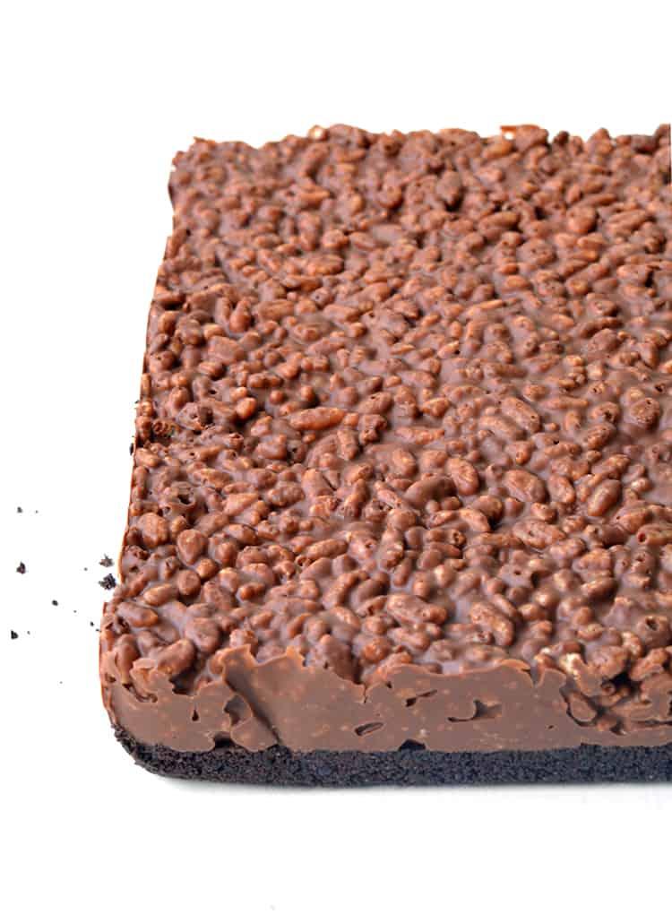 PEANUT BUTTER RICE KRISPIE BARS #dessertrecipes