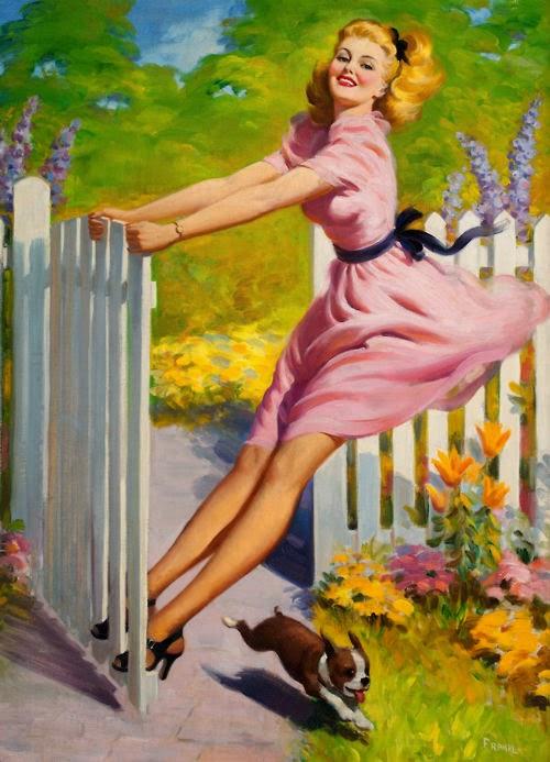 Balanço no Verão - Art Frahm e suas principais obras - Artista Pin-up