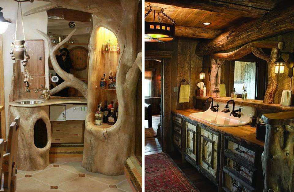 15 Traditional & Rustic Warm Interior Wood Decorating ... on Traditional Rustic Decor  id=17033