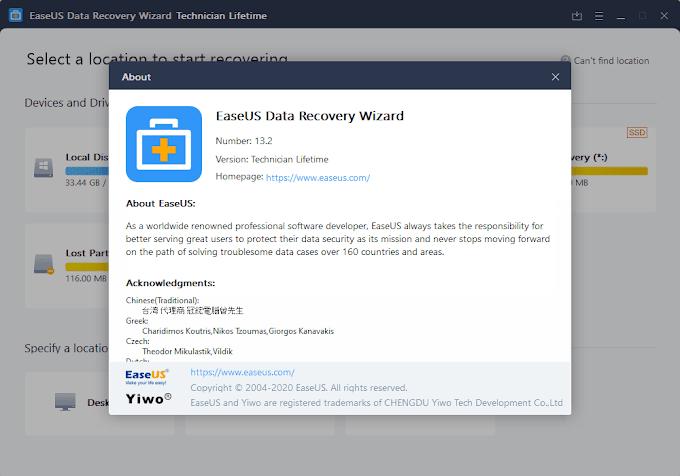 EaseUS Data Recovery Wizard Technician 13.5 + WinPE / 10.9 macOS
