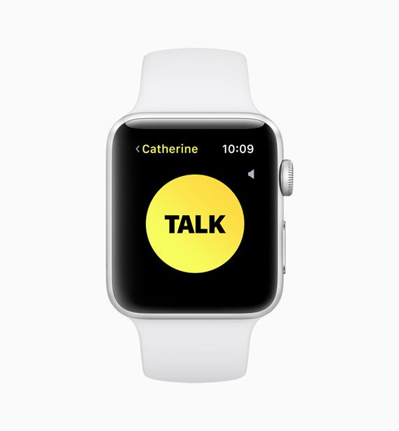 Apple Watch 對講機功能