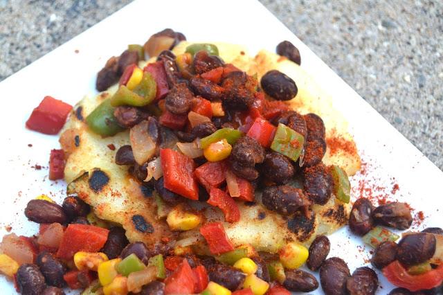 Vegetarian Fajita Arepas