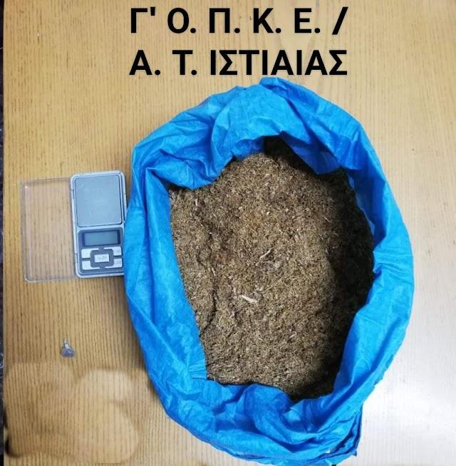 Συνελήφθη 60χρονος στην Ιστιαία για ναρκωτικά και αδασμολόγητο καπνό