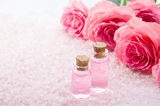 Use cold rose water
